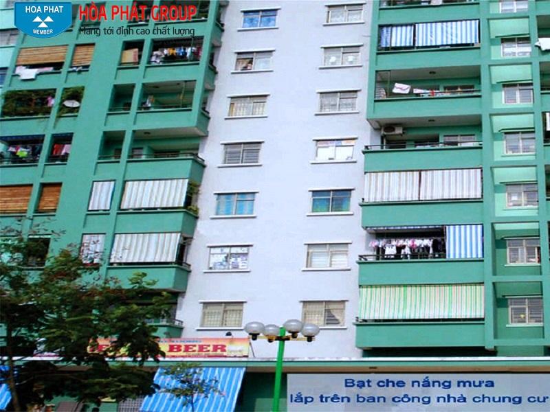 bạt che nắng mưa chung cư chất lượng cao